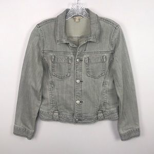CAbi Jeans Light Gray Denim Jacket M